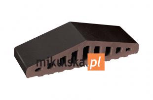 Wulkaniczna czerń daszek dwuspadowy klinkierowy na murek PRZYSUCHA W315