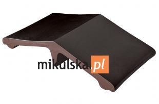 Wulkaniczna czerń łącznik - daszek dwuspadowy klinkierowy na słupek PRZYSUCHA D427ł