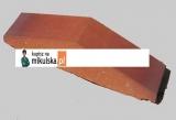 Daszek dwuspadowy klinkierowy na murek 30 x 6,5 cm W424 Kalahari Ton