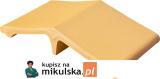RÓŻA PUSTYNI Łącznik - daszek dwuspadowy klinkierowy  na słupek 44,5x25cm PRZYSUCHA D327ł