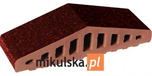BRĄZ SZKLIWIONY Daszek dwuspadowy klinkierowy na murek PRZYSUCHA D516