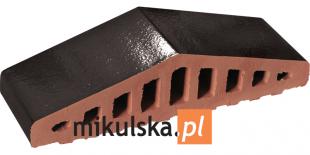 ONYKSOWA CZERŃ Daszek dwuspadowy klinkierowy na murek PRZYSUCHA O961