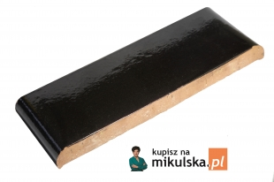 Okapnik dwustronny płaski KP20, KP30 Czarno- brązowy szkliwiony Gołowczyński