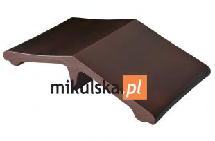 Kropla Calvadosu Łącznik -  daszek klinkierowy na słupek 44,5 x25 cm PRZYSUCHA D364Ł