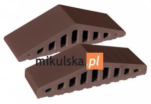 BRĄZ NATURA Daszek dwuspadowy klinkierowy na murek PRZYSUCHA D850