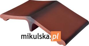 DZIKIE WINO Łącznik - daszek dwuspadowy klinkierowy na słupek 44,5x25cm PRZYSUCHA D465ł