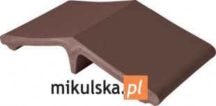 BRĄZ NATURA Łącznik - daszek dwuspadowy klinkierowy na słupek 44,5x25cm PRZYSUCHA D739ł