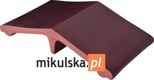 KARMAZYNOWA WYSPA Łącznik - daszek dwuspadowy klinkierowy na słupek 44,5x25cm PRZYSUCHA D525ł