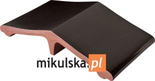 ONYKSOWA CZERŃ Łącznik - daszek dwuspadowy klinkierowy na słupek 44,5x25cm PRZYSUCHA D974ł
