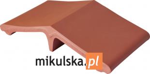 RUBINOWA CZERWIEŃ Łącznik - daszek dwuspadowy klinkierowy na słupek 44,5x25cm PRZYSUCHA D569ł