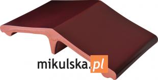 WIŚNIOWY SAD Łącznik - daszek dwuspadowy klinkierowy na słupek 44,5x25cm PRZYSUCHA D970ł